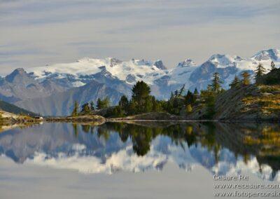 Monte Rosa vista da lago bianco