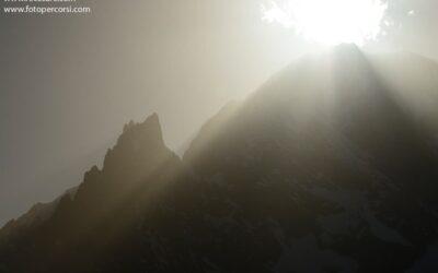 Il sole sulla cima